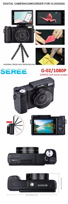 Seree 24MP HD Half-DSLR Professional Digital Cameras with 4x Telephoto,Fisheye & Wide Angle Lens Cameras Macro HD Cameras #digitalcamera
