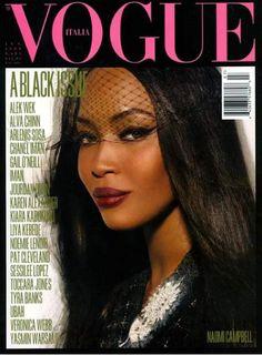 italian vogue black issue cover - Naomi