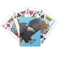 Bald eagle bicycle playing cards - home decor design art diy cyo custom