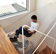 If you are having some free time and want to spend it lazing around, then a hammock bed would be an ideal choice. Usually a hammock bed can be seen outside the house, but the team OODA has redesigned Home Interior Design, Interior Architecture, Interior Ideas, Modern Interior, Interior Decorating, Indoor Hammock Bed, Dock Hammock, Indoor Swing, Design Case