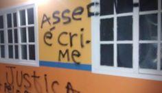 JORNAL O RESUMO: Paredes de escola em Saquarema são pichadas