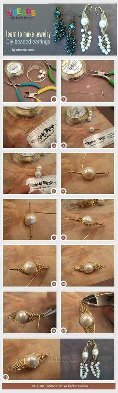 learn to make jewelry - diy beaded earrings: