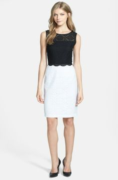 Adrianna Papell Colorblock Lace Sheath Dress on shopstyle.com