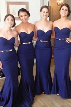 Mermaid Bridesmaid Dress, Bridesmaid Dress Blue, Cute Bridesmaid Dress, Navy Blue Bridesmaid Dress, Bridesmaid Dress For Cheap Bridesmaid Dresses 2018