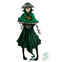 Pokemon - Serperior Gijinka by MaouYuki
