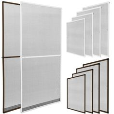 Screen Door Magnetic Strip Closure Mosquito Screen Mesh for French Door Fiberglass Double Sliding Door Mesh Upgrade 36 Strong Magnetic for Front Back Interior or Exterior Entrance Courtyard