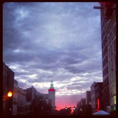 Sunset- downtown Youngstown, Ohio