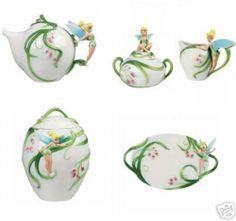 Disney Tinker Bell porcelain tea set - Rare - New