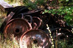 Old train wheels