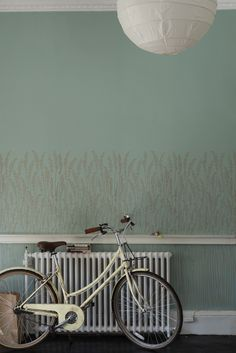 Farrow & Ball Feather Grass wallpaper available at Tonic Living in Toronto Floral Print Wallpaper, Paper Wallpaper, Home Wallpaper, Colorful Wallpaper, Floral Prints, Farrow Ball, Farrow And Ball Paint, Wall Colors, House Colors