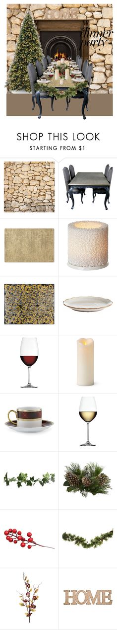 """""""#PolyPresents: Dinner Party"""" by uk19 ❤ liked on Polyvore featuring interior, interiors, interior design, home, home decor, interior decorating, Waterford, iittala, Nomi K and Nachtmann"""