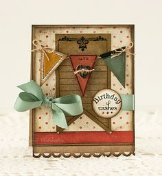 Vintage pennant - love the soft colors