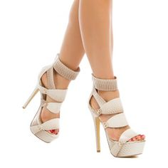 Tuscana - ShoeDazzle - taupe/white - Check out Rachel Zoe's top choices this month.