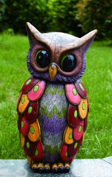 Cement Spring Owl Fig #GardenOwl