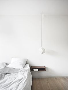 30 Original Alternatives to a Common Bedside Table hinged lamp ...