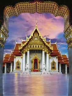 Wat Benchamabophit (the Marble Temple), Bangkok, Thailand /  Kalendář World Monuments 2017