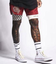 Tatto For Men, Tatto Man, Tattoo, Saints Row, Spandex Shorts, Ohana, Style Guides, All Star, Wolf