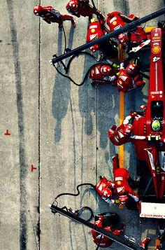 Ferrari pitstop - 2013 Malaysian Grand Prix