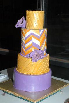 Chevron Wedding cake