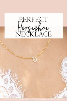 Horseshoe Necklace is perfect for every day and layering and comes in Gold, Silver or Rose Gold Excellent Christmas Gift Idea for Horse lovers or Equestrians Slave Bracelet, Heart Bracelet, Etsy Jewelry, Jewelry Stores, Jewellery, Cool Gifts For Kids, Gifts For Her, Horseshoe Necklace, Gold Anklet