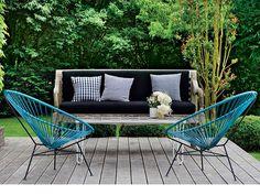 【ELLE】アイアンフレームのアカプルコチェア 【Cafe編】ベランダや庭でグリーンを愛でる、自分だけのカフェコーナーを!