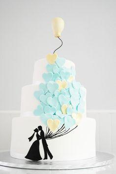 ballons wedding cake - Essencia do Bolo by Branca Lopes