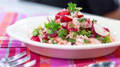 Katherine Heigl's radish salad