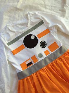 BB-8-inspired T-shirt dress for Big Girls sizes XS S M L