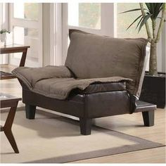 coaster company chairchair bed brown and dark brown
