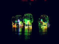 Made from glowsticks, mason jars, my own little secret sparkles, glitterpaint glue