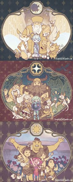 The sun, The stars, The moon by Blair Dreamwork's Movies Fan Art. Top: Rise of the Guardians Middle: How to Train a Dragon Bottom: The Croods http://graphitedoll.tumblr.com