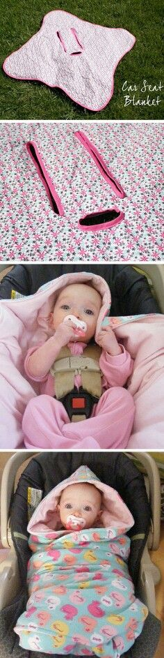 DIY Sewing Crafts for Babies   Infant Car Seat Blanket   Swaddle   Sew   Pattern   Craft