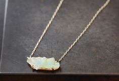 Cosmic Opal Necklace in Metallic Gold Paradigm wWhe2wZ1