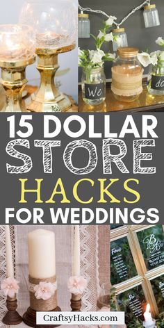 Need a dollar store craft arrangement for your wedding design? Try these wedding design ideas and do it on a low budget. tree wedding centerpieces 15 Dollar Store Wedding Hacks for Low Budgets Diy Wedding On A Budget, Wedding Decorations On A Budget, Diy On A Budget, Wedding Tips, Our Wedding, Wedding Hacks, Wedding Shoes, Wedding Dresses, Cake Wedding
