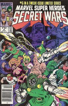 Marvel Super-Heroes Secret Wars #6, october 1984, cover by Bob Layton.