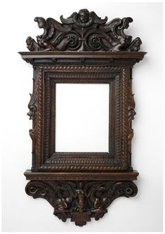 Frame Place of origin: Italy Date:1800-50 Materials and Techniques: carved walnut | Victoria and Albert Museum