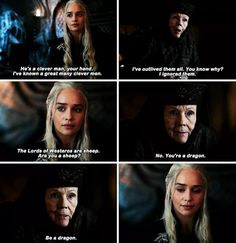 Lady Olenna Tyrell & Daenerys Targaryen (7x2) game of thrones season 7, Emilia Clarke