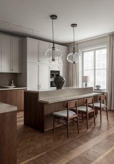 Diy Kitchen, Kitchen Dining, Kitchen Ideas, Kitchen Island, Fusion Kitchen, Design Moderne, Cuisines Design, Küchen Design, Beautiful Kitchens