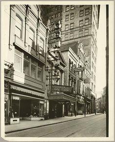 Street scene. Century Theatre, 18 West Lexington Street, Baltimore