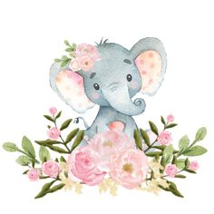 Pink Floral Elephant Baby Shower Gifts on Zazzle Baby Shower Welcome Sign, Baby Shower Thank You, Welcome Baby, Elephant Baby Showers, Pink Elephant, Elephant Nursery Art, Name Wall Decor, Baby Posters, Baby Girl Nursery Decor