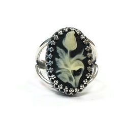 Cameo Ring Sterling Silver Jewelry Adjustable by jewelrybycarmal, $52.00. @Stephanie Francis Sosniak, I think this is really neat. Thought you would like it too.