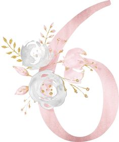 Елена Щербакова Letters And Numbers, Watercolor Flowers, Watercolor Lettering, Rifle Paper, Baby Cards, Cute Images, Wallpaper Backgrounds, Paper Art, Arte Digital