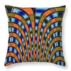 """Tempe Town Lake Construction #0698wpcre Throw Pillow by Tom Janca.  Our throw pillows are made from 100% spun polyester poplin fabric and add a stylish statement to any room.  Pillows are available in sizes from 14"""" x 14"""" up to 26"""" x 26"""".  Each pillow is printed on both sides (same image) and includes a concealed zipper and removable insert (if selected) for easy cleaning."""