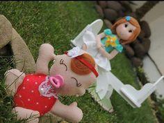 Bonecas em feltro em feltro!  #feltrossantafe #felt #feltro #panoseplanos #artesanato