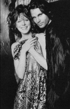 "LIGHT MY FIRE - Jim Morrison of ""The Doors"" poses with super groupie Pamela Des Barres."