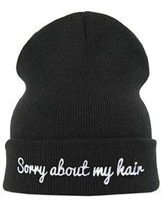 sorry about my hair beanie hat alffie deyes