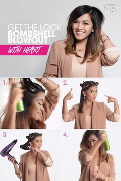 To go from Boring to Bombshell: 1) First, add Garnier Fructis Full & Plush Voluptuous Blowout to wet hair. Next, spray Mega Full Thickening Spray from midway to ends.Then,apply Full & Plush Root Amp Spray Mousse to roots. 2) Section hair into four parts 3) Starting at the bottom, take a round brush and blow dry from root to tip.Then,concentrate the heat at roots and use the cool shot setting to lock in lift. 4) Finish with Full Control Hairspray!