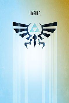 Barrett Biggers | Legend of Zelda Hyrule Rising Minimal Art Poster ...