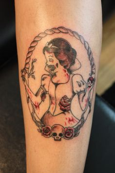 snow white zombie tattoo, i like how it's simple