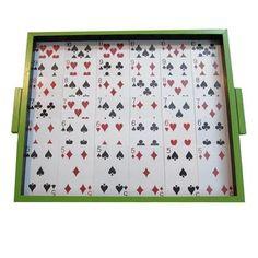 White Framed Poker Serving Tray - FOLKBRIDGE.COM   Buy Gifts. Indian Handicrafts. Home Decorations.